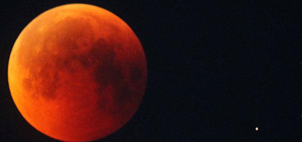Madrugada de terça tem Lua de Sangue