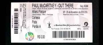 Par de convites para show do Paul via compartilhamento