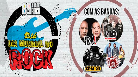 89 promove show do Dia Mundial do Rock através de ação social