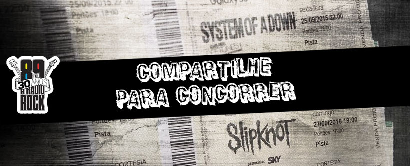 Compartilhamento vídeo do SOAD e Slipknot no Facebook
