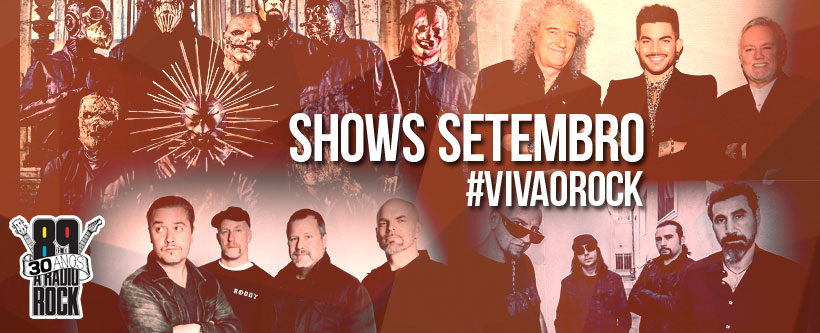 Shows setembro: 89 Viva o Rock