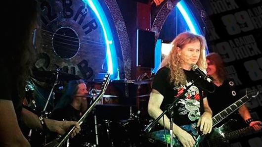 Veja performance exclusiva do Megadeth para fã-clube