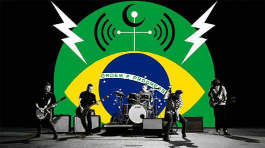 Pearl Jam abre turnê pelo Brasil com filme sobre a natureza