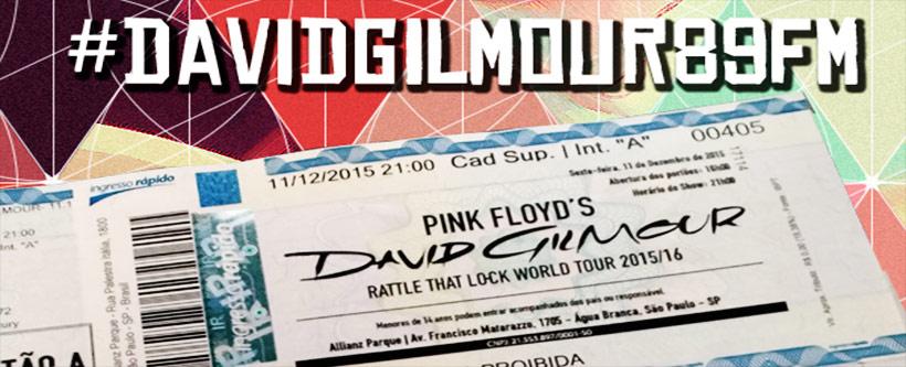 Promo #DavidGilmour89FM no Twitter