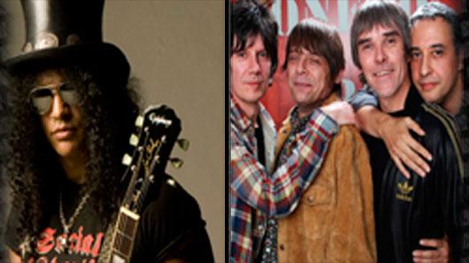 """Stone Roses rejeitou Slash como guitarrista """"porque ele usa calça de couro"""""""