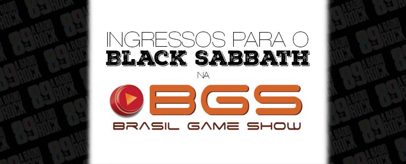 Ingressos para o Black Sabbath na Brasil Game Show