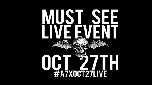 Avenged Sevenfold transmitirá show via internet