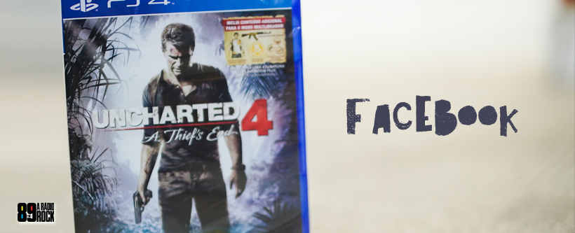 Promo jogo Uncharted 4 para PS4 via Facebook