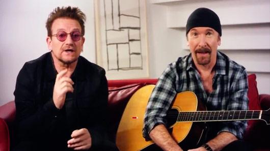 "U2 libera versão acústica de ""Stuck In A Moment You Can't Get Out Of"""