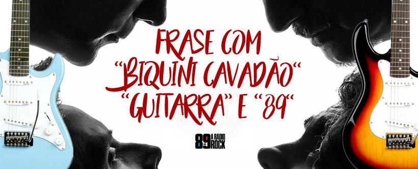 Meet & Greet + Guitarra + ingressos para o show do Biquini Cavadão