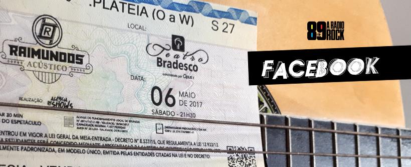 """Ingressos para """"Raimundos Acústico"""" via Facebook"""