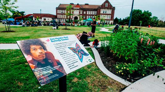 Aberto parque em homenagem a Jimi Hendrix