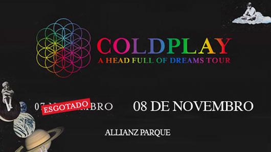 Coldplay confirma show extra em São Paulo