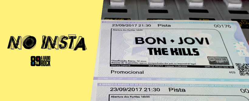 Ingressos SP Trip com Bon Jovi via Instagram