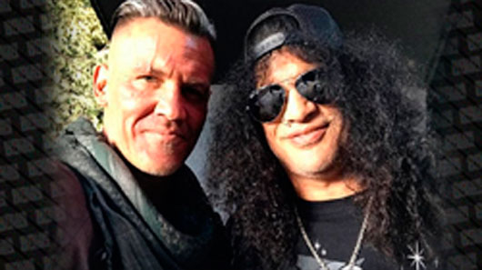 "Slash visita o set do filme ""Deadpool 2"""