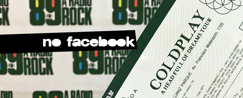 Ingressos show do Coldplay em SP via Facebook