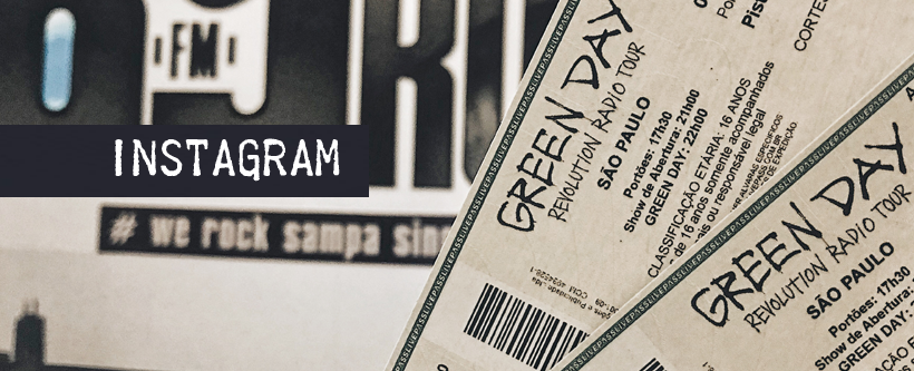Ingressos show do Green Day em SP via Instagram