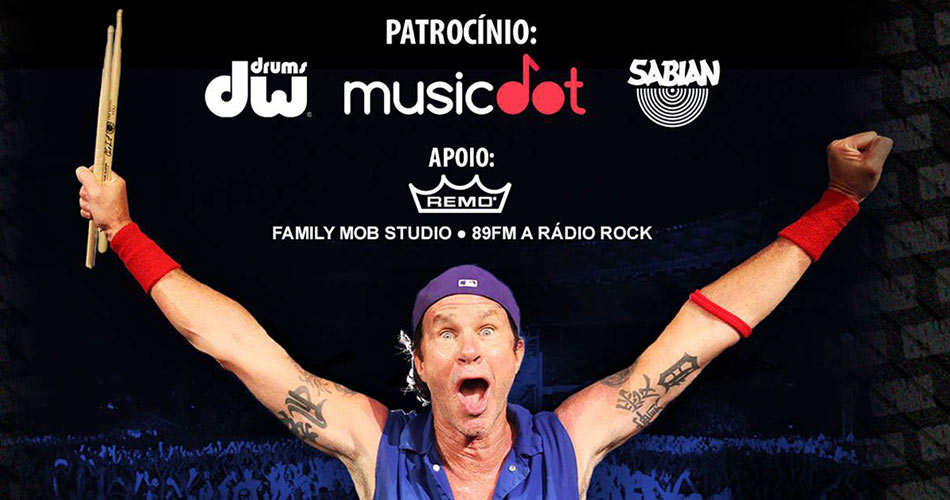 "RHCP: Chad Smith fará ""Drum Clinic"" exclusiva em SP"
