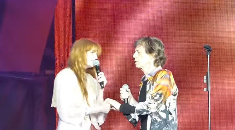 Resultado de imagem para Confira dueto incrível de Mick Jagger e Florence Welch