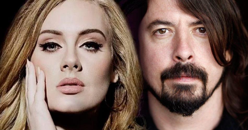 Adele pode participar do próximo álbum do Foo Fighters, sugere Dave Grohl