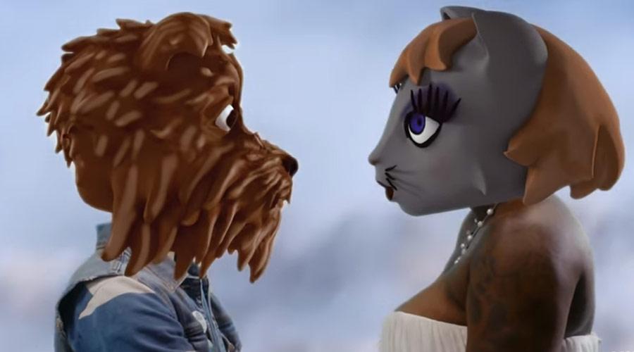 Animação: Arcade Fire apresenta cão lutando com tubarões para conquistar coração de gatinha