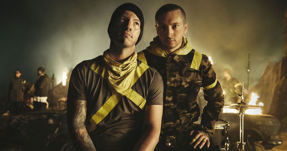 "Twenty One Pilots anuncia evento virtual de lançamento do single ""Choker"""