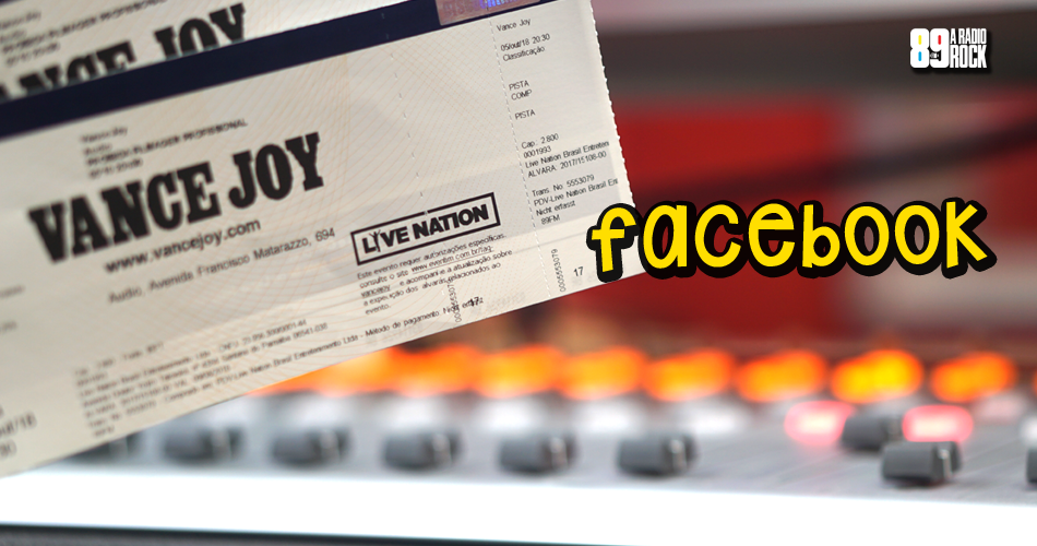 Ingressos para show do Vance Joy via Facebook