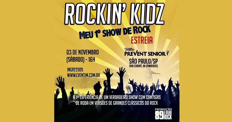 """""""Rockin´ Kidz- Meu Primeiro Show de Rock"""" estreia no Teatro Prevent Senior"""