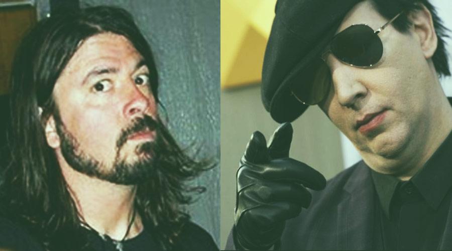 """""""Marilyn Manson ajudou a matar o grunge"""", diz Dave Grohl"""