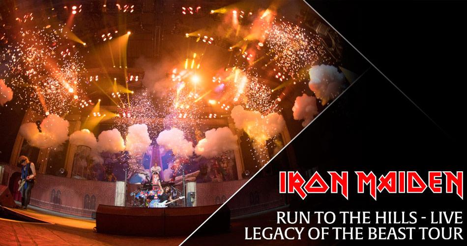 """Iron Maiden lança novo clipe ao vivo para """"Run To The Hills"""""""
