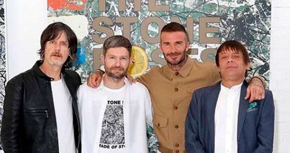 David Beckham lança nova coleção de roupas em parceria com The Stone Roses