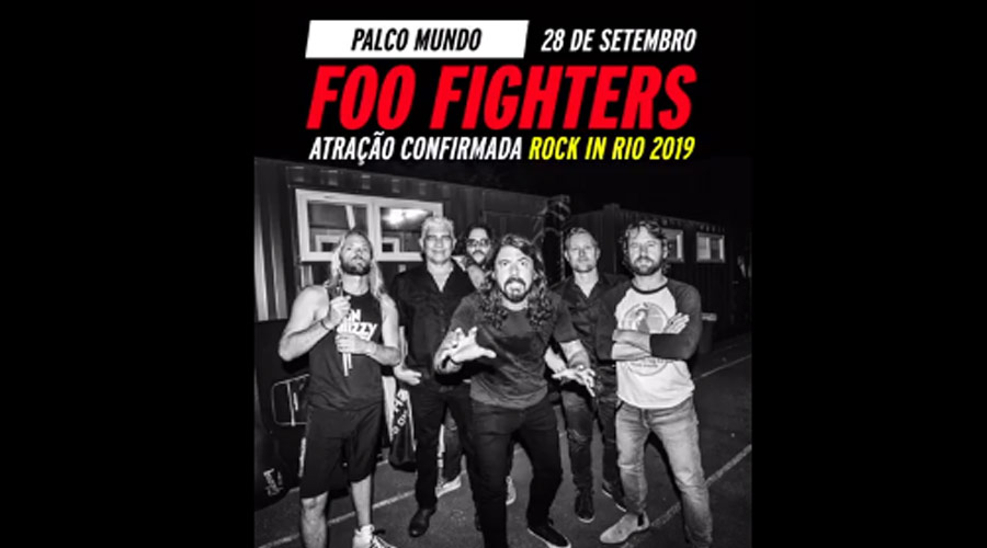 OFICIAL!!! Rock in Rio confirma shows de Foo Fighters, Weezer e Panic! At The Disco