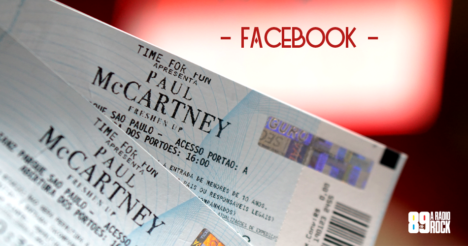 Ingressos Paul McCartney via Facebook