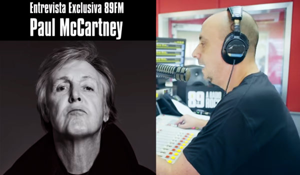 Exclusivo! Antes do show, Paul McCartney liga para locutor da 89