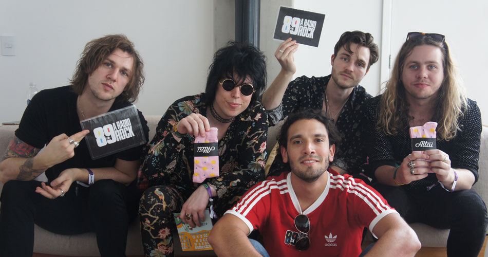 Assista: 89 fala com os caras do The Struts nos bastidores do Lolla