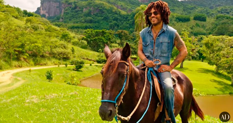 Vídeo: Lenny Kravitz mostra sua fazenda no Brasil