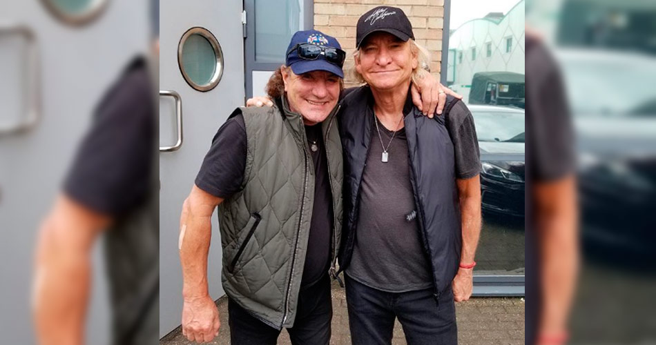 Brian Johnson, do AC/DC, inicia produção de material inédito com Joe Wash, do Eagles