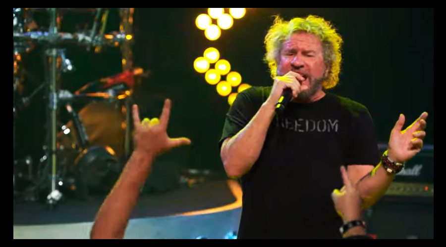 "Canal de Sammy Hagar mostra The Circle fazendo ""Right Now"", do Van Halen"