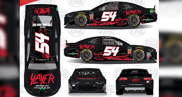 Carro do Slayer participa de corrida da NASCAR