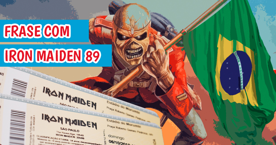 Ingressos show do Iron Maiden via Facebook