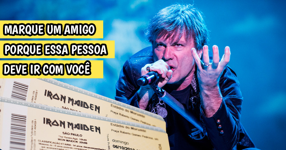 Ingressos show do Iron Maiden via Instagram