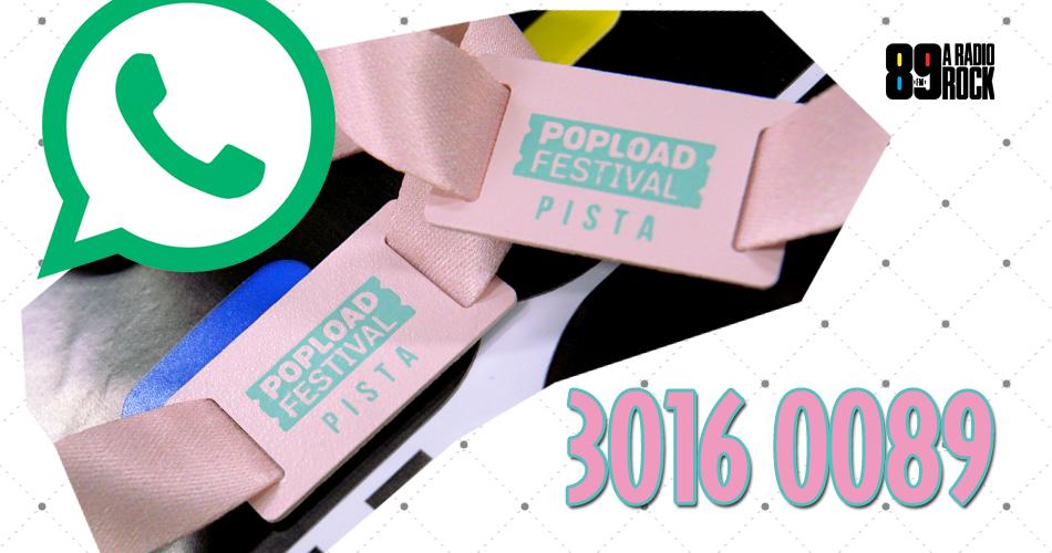 Ingressos Popload Festival via WhatsApp