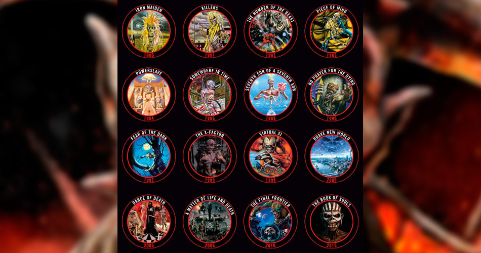 Tampas de garrafas celebram álbuns do Iron Maiden