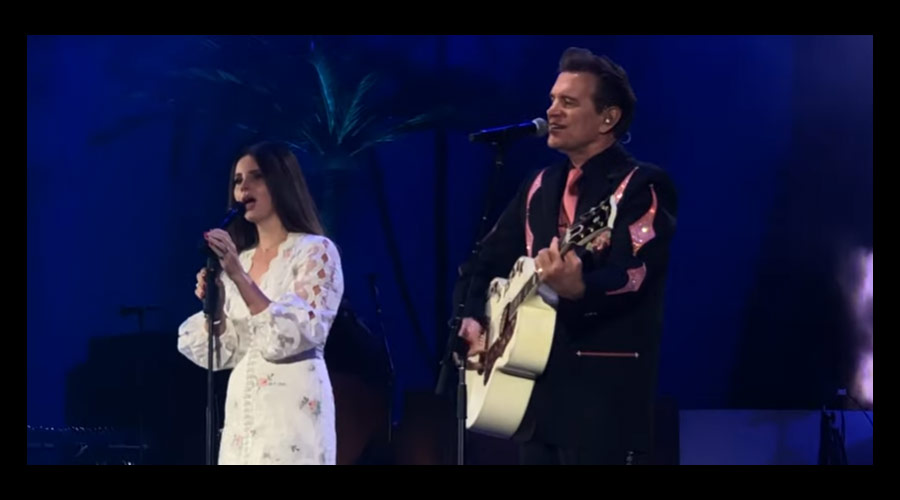 "Vídeo: Lana Del Rey canta ""Wicked Game"" com Chris Isaak"