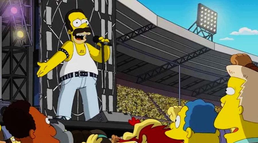 """Os Simpsons recriam show histórico do Queen no """"Live Aid"""""""