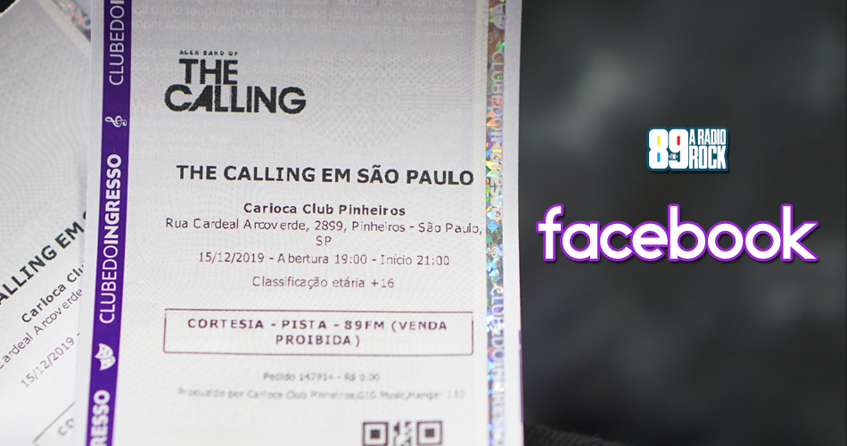 Ingressos show do The Calling via Facebook