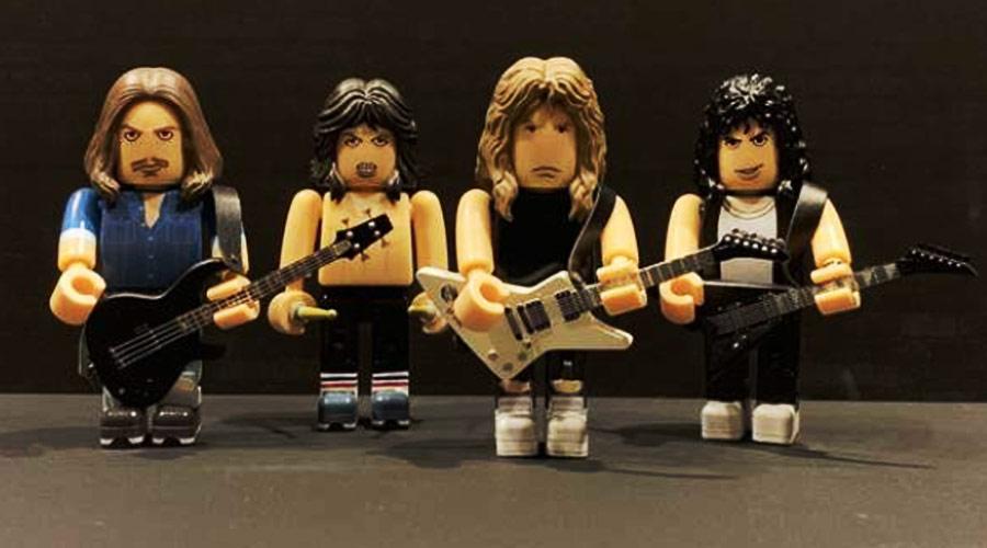 """Série de miniaturas colecionáveis do Metallica traz a formação de """"Master Of Puppets"""""""