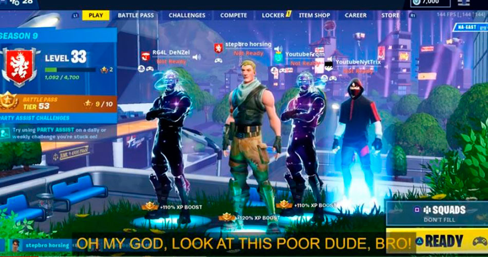 Fortnite se une à Samsung para combater o Cyberbullying