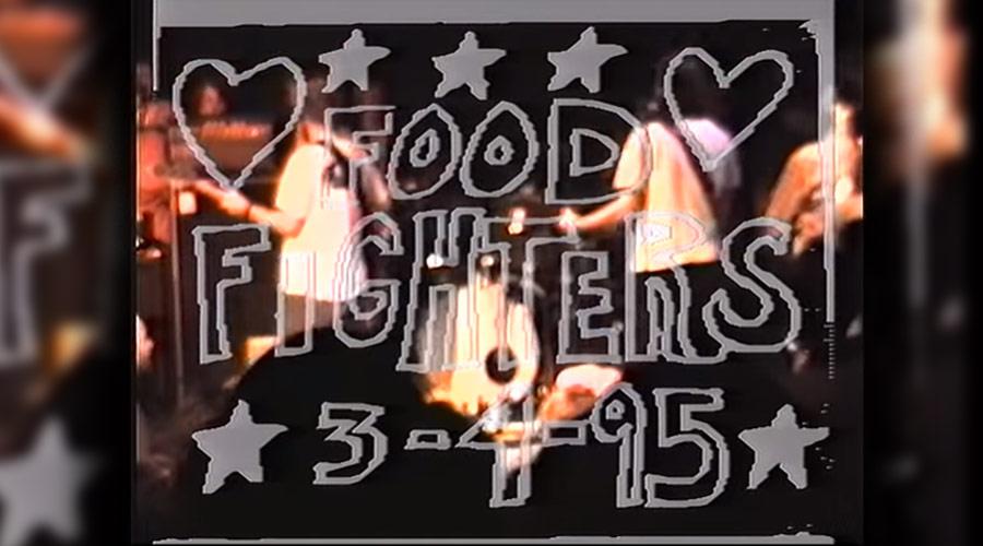 Vídeo restaurado de 1995 mostra um dos primeiros shows do Foo Fighters