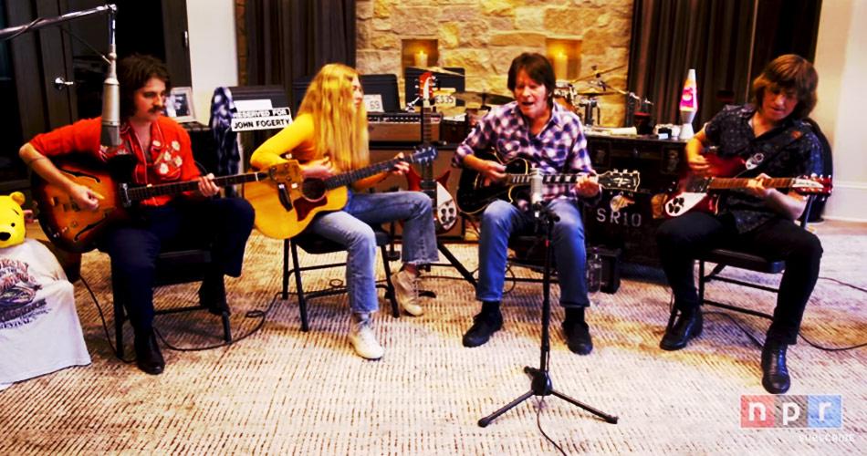 John Fogerty, do Creedence Clearwater Revival, faz set de quatro músicas com seus filhos